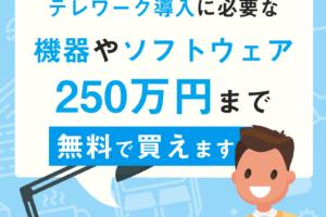 4 1 事業継続緊急対策(テレワーク)助成金 300x200 - 【働き方を変える方】リモートワークを導入すると、最大250万円の補助が出ます!