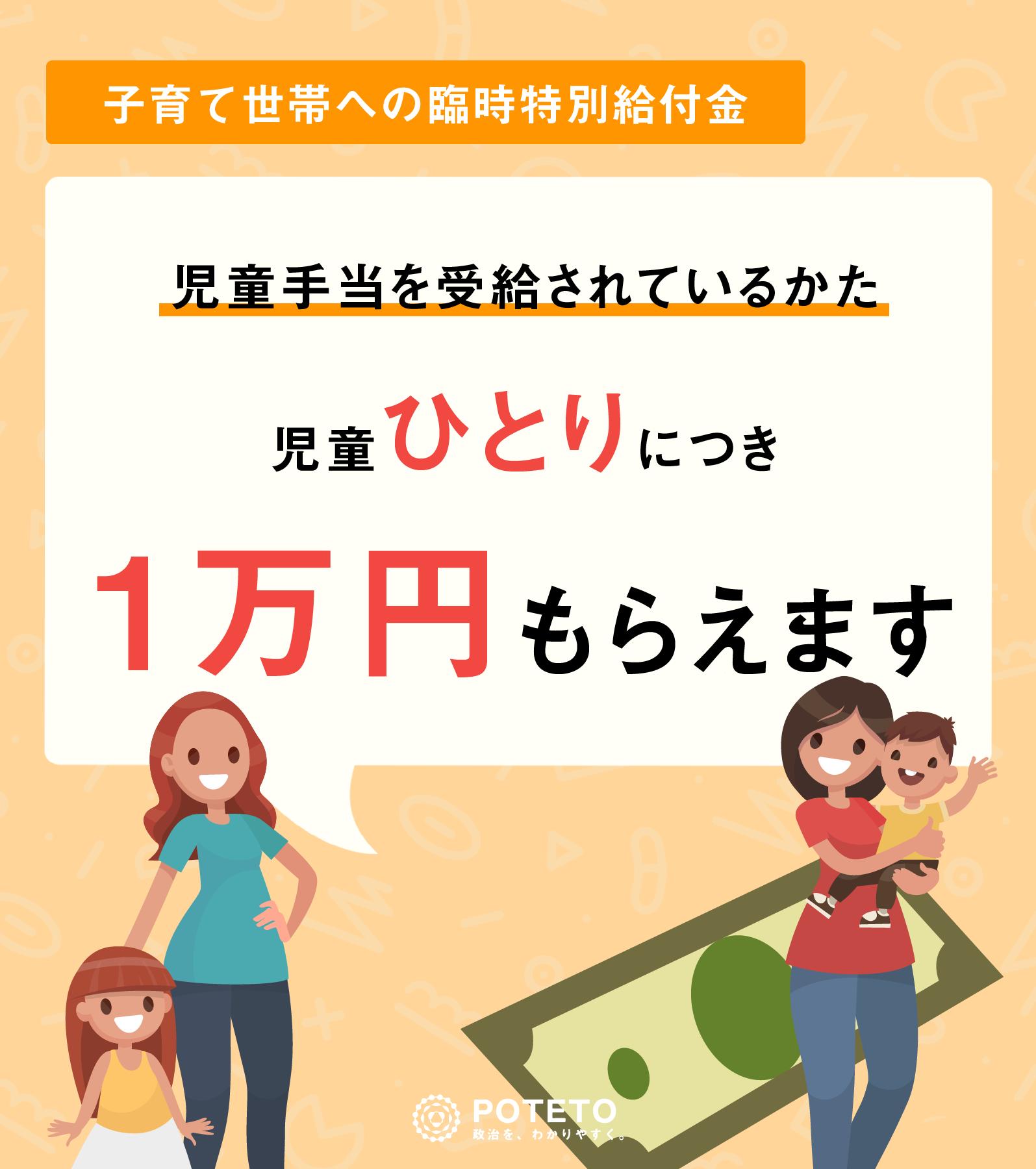5c91120a077827838a359069891c1373 - 【子育て世帯向け】子ども1人につき、1万円もらえます。