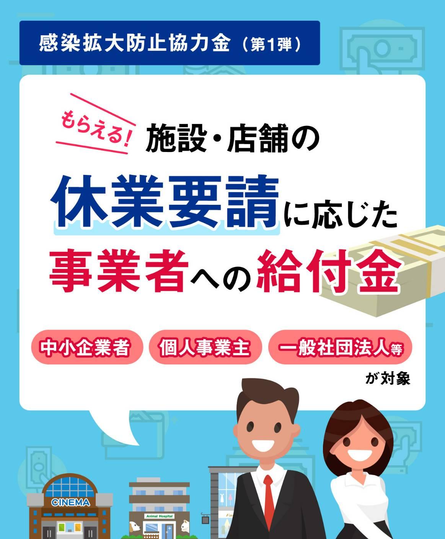 66097 - 【中小企業・個人事業主】休業要請に応じた場合、お金をもらうことができます。